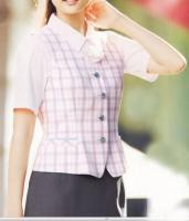 OL服 レディース ベスト V5700-38 (ピンク)