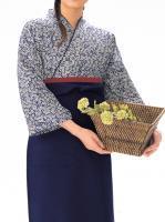 本手染め作務衣・上着(小桜・紺)SJ-4303